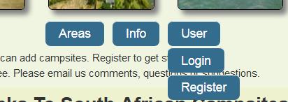 Login and register links